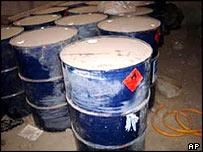 Chemicals found in Mosul