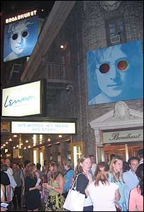 Lennon at New York's Broadhurst Theatre