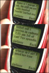 Lisa May sent text messages before the tsunami struck
