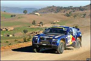 Robby Gordon in his VW Touareg