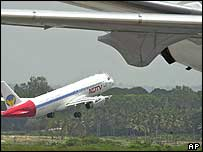 Indian airliner taking off