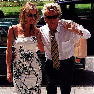 Rod with girlfriend Kimberly Conrad in 1999