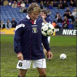Stewart in celebrity football match