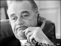 US President Lyndon Johnson