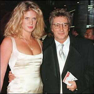 Rod Stewart and Rachel Hunter in 1996