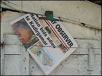 Newspaper stand, Colombo