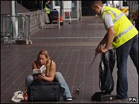 Passenger at Heathrow Terminal 4