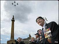 Flypast at George Square