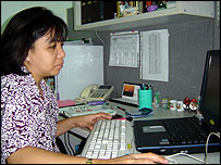 Chai Capati, a middle manager at Infiniti Solutions in the Philippines