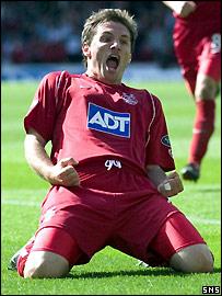 Jamie Smith celebrates his winning goal