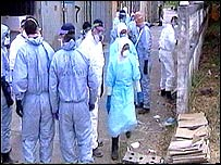 Forensic officers in Thailand