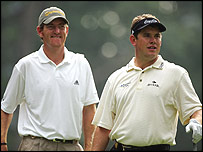 Greg Owen and Lee Westwood