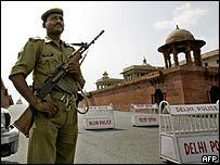 Indian policeman in Delhi