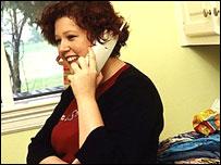 Woman on telephone