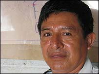 Chisec police chief Francisco Perez Camo