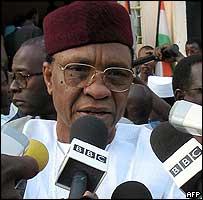 Niger President Mamadou Tandja