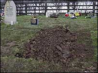 Exhumation site
