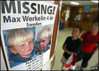 Photos of a missing Swedish boy at a hospital in Phuket