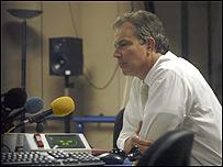 Tony Blair, primer ministro británico, durante una entrevista en Radio 4 de la BBC