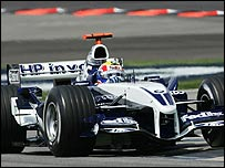 Mark Webber in a Williams Formula One car