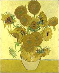 Sunflowers by Van Gogh (copyright the National Gallery)