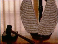 Photo of wig and gavel