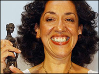 Andrea Levy after winning the Orange Prize in 2004