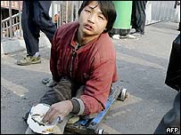 Beggar in China