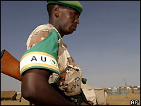 AU soldier in Sudan
