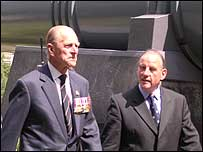 The Duke of Edinburgh arrives at the Imperial War Museum