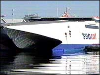 Future of fast ferry link is being reviewed.
