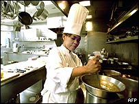 Comerford in the kitchen