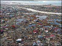 Bird eye's view of Banda Aceh's coastline