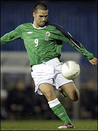 David Healy hit a superb volley against Austria