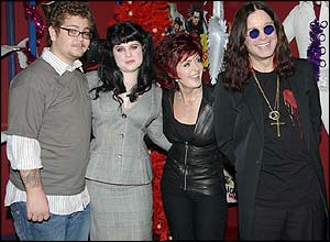 Jack Osbourne (left), with his sister, Kelly, mother, Sharon and father, Ozzy.