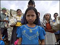 Tsunami victims in Aceh