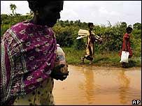 Mujeres desplazadas en Sri Lanka