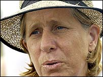 Cindy Sheehan is protesting outside a ranch where President Bush is spending his summer holiday