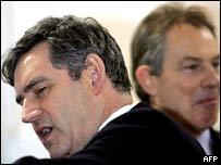 Гордон Браун (слева) и Тони Блэр