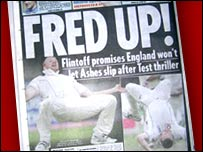 The back page of Tuesday's Mirror newspaper