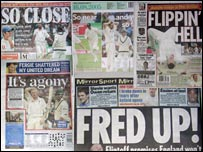 The back pages of Tuesday's newspapers