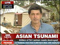 Jon Sopel reports live from Sri Lanka
