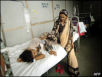 Mother with daughter in Bhabha hospital, Mumbai
