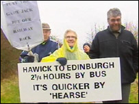 Waverley line protest