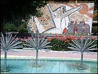 Soviet-era mural
