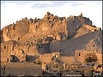 The rubble of Bam's historic citadel