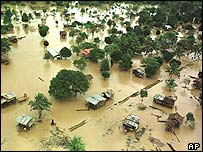 The aftermath of Hurricane Mitch in Nicaragua in 1998