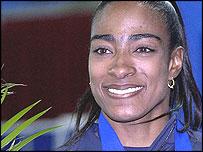 US sprinter Michelle Collins
