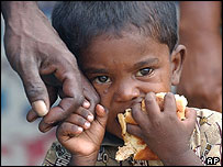 Tamil child in northern Sri Lanka