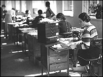 BBC office during World War II